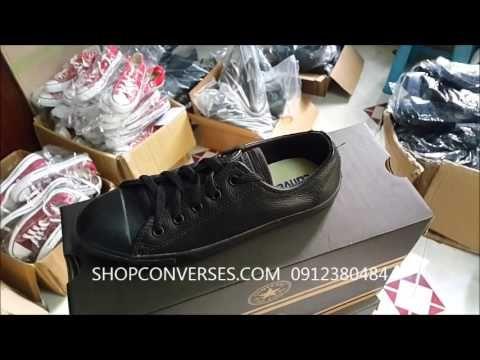 Giày converse slim đen full thấp cổ | Giay converse slim den full thap