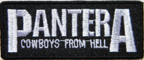 "3"" x 1.25""PANTERA COWBOYS FROM HELL Music Band Heavy Metal Rockabilly Rock Punk Logo jacket T shirt Patch Iron on Embroidered music patch by Tourlesjours Tour Les Jours http://www.amazon.com/dp/B00IM5RJB8/ref=cm_sw_r_pi_dp_QlHOub04SKQFM"