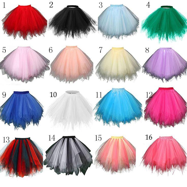 В наличии нескольких Цветной короткие юбки тюль кринолин Лидер продаж 2016 года Нижняя юбка для девочек дешевые Свадебные аксессуары SA941