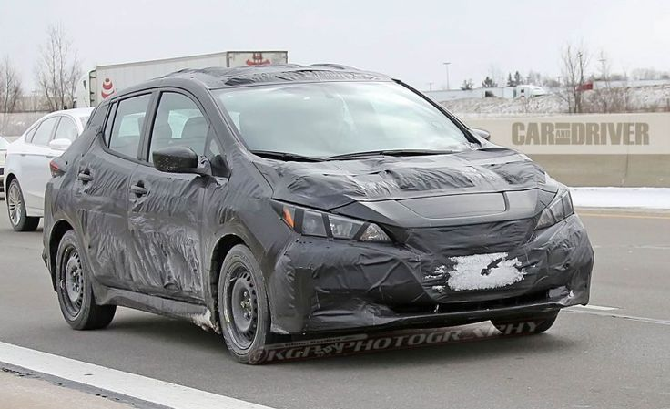 View 2018 Nissan Leaf Spied: Will Offer Longer Range, Less Weird Styling Photos from Car and Driver. Find high-resolution car images in our photo-gallery archive.
