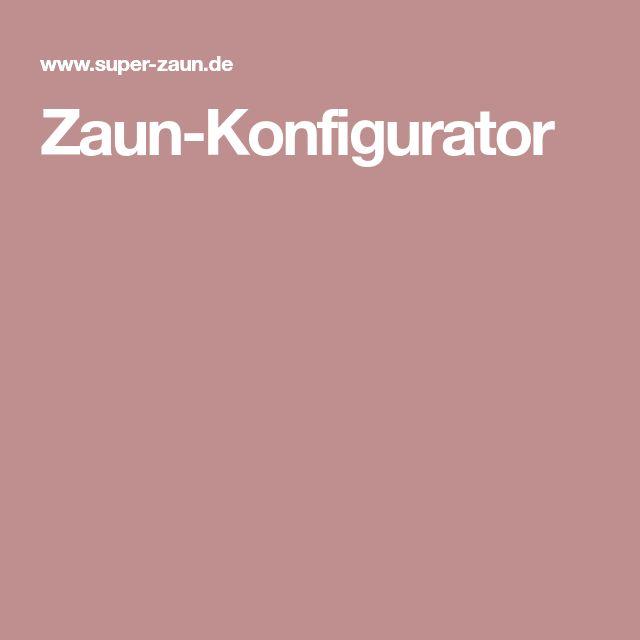 Zaun-Konfigurator