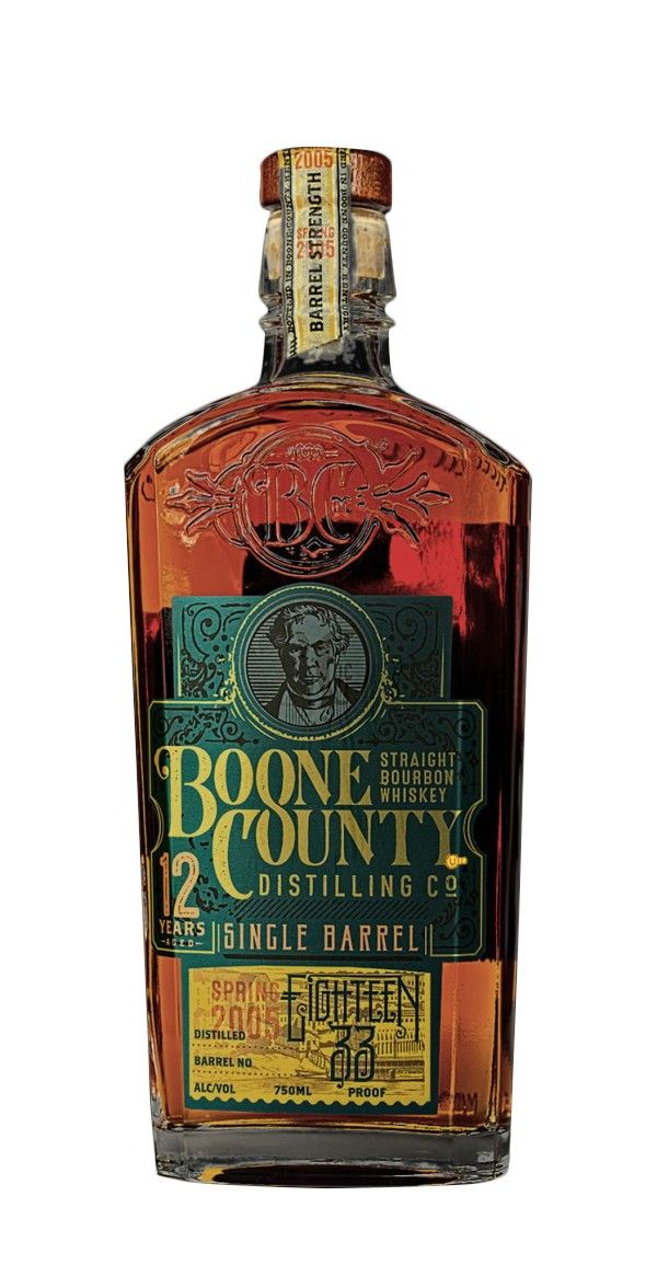 Boone County 1833 12 Year Old Single Barrel Straight Bourbon Whiskey Straight Bourbon Whiskey Bourbon Whiskey Boone County