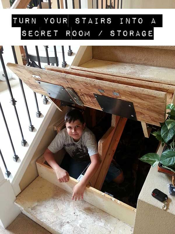 Turn Your Stairs Into A Secret Room / Storage.