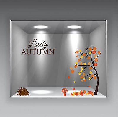 adesivi vetrine foglie autunno inverno negozi vetrofanie stickers leaves autumn • EUR 25,00