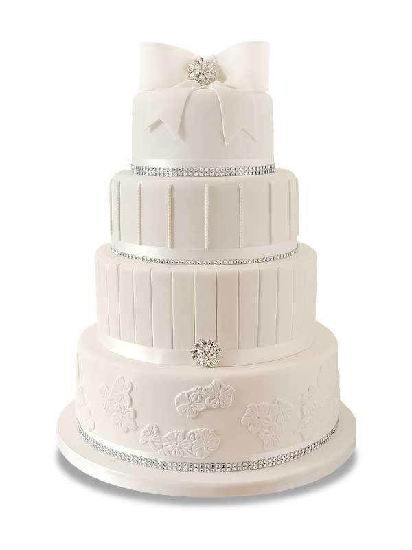 PuurTaart :: Taartengalerij - Witte bruidstaart - Wedding cake White Diva