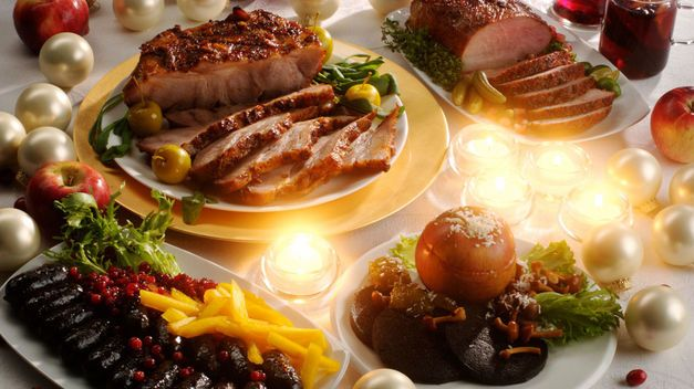 Spanish traditional Christmas dinner
