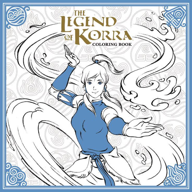 Legend of Korra Coloring Book Legend of korra, Korra