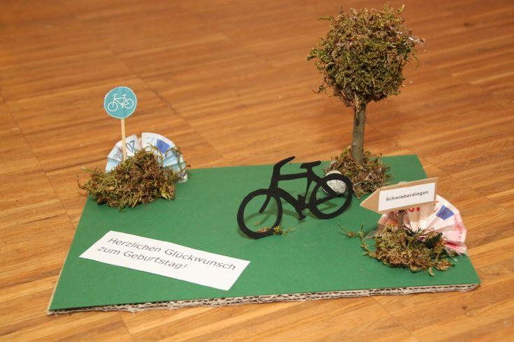Geldgeschenk für ein neues Fahrrad Geldgeschenke für Fahrradbegeisterte