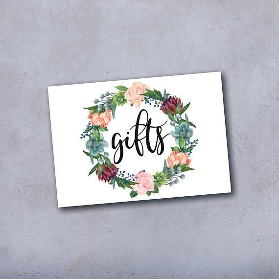 Wedding Card Sign Wedding Gifts Sign Gift Table Sign Gift