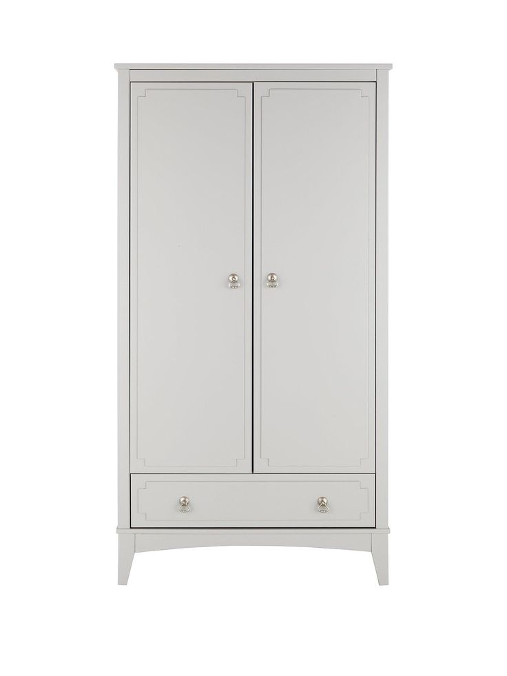 Fearne 2 Door, 1 Drawer Wardrobe in Painted GreyOptional home assembly service available* Flaunting a  go-with-everything grey…