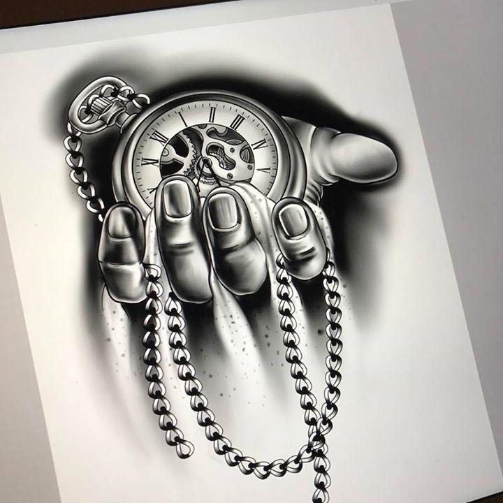 Best 25+ Time Piece Tattoo Ideas On Pinterest  Clock