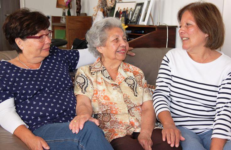 """Mevr. Biekart (94) en haar dochters vertellen over wonen bij de Indische woongroep bij WZH Leilinde: """"Ik ga nooit meer verhuizen!"""""""