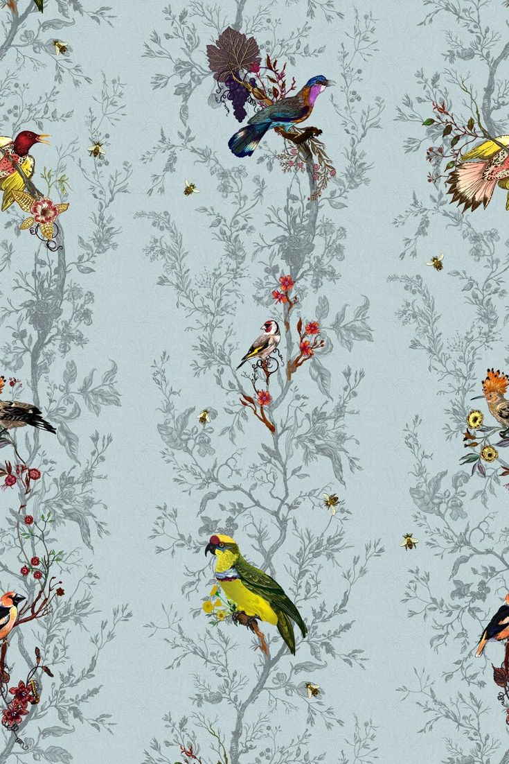 Timorous Beasties Wallcoverings - Birds'n'Bees (£300.00  per roll): Timorous Beastie