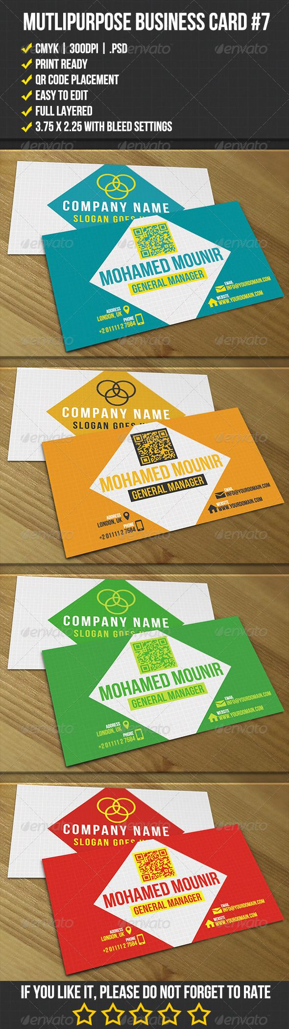 18 best business card templates images on pinterest business multipurpose business card 7 alramifo Images