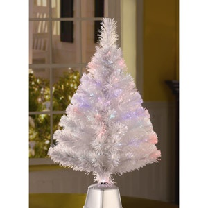 Holiday Time 2.5' Fiber Optic White Artificial Christmas Tree, Clear Lights - but I want a really big one..can't find pictures online yet