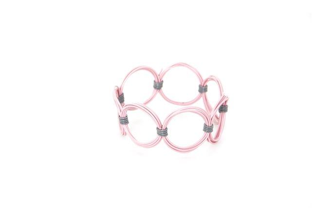 Ring Ring Bling Circle Bangle by Blossom Handmade on hellopretty.co.za
