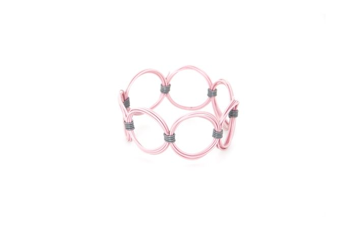 Ring Ring Bling Circle Bangle by Blossom Handmade on hellopretty.co.za