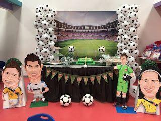 Beula decoraciones, decoracion de eventos tematicos e infantiles: Decoración fiesta futbol