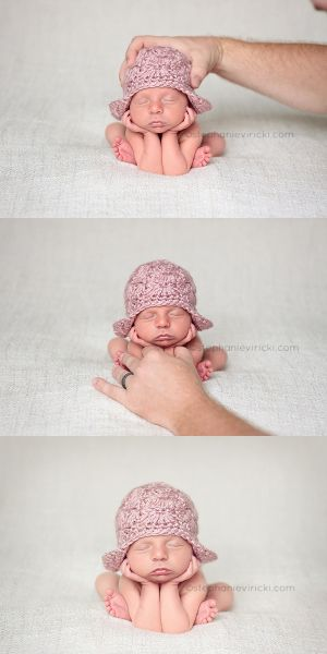 Newborn safety issues photography posing and props