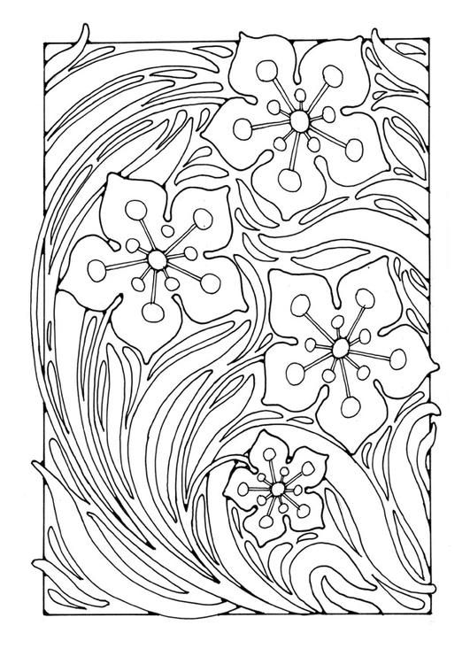 Adult Coloring Pages Patterns : 194 best color pages: floral images on pinterest