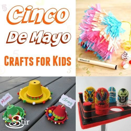 Cinco De Mayo Crafts for Kids http://thestir.cafemom.com/toddlers_preschoolers/184500/10_colorful_cinco_de_mayo?utm_medium=sm&utm_source=pinterest&utm_content=thestir