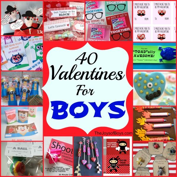 40 Valentines for Boys - My boys will love these!