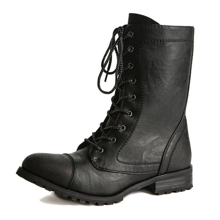 This Classic Style Combat Boot From Gia Mia Features A
