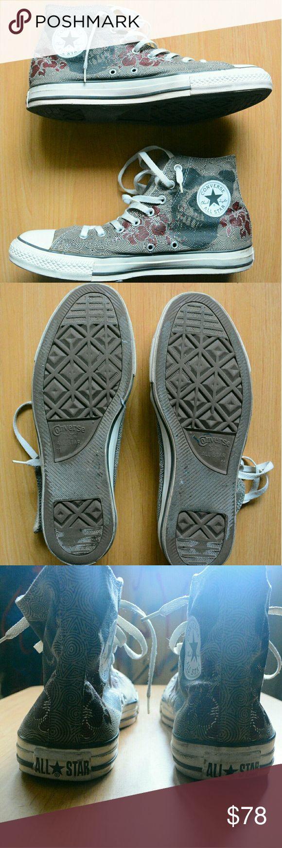 Men's Limited Edition Converse 11 US / 45 EUR Preowned; Men's Limited Edition Converse Chuck Taylor / Skull Design  Color: Tan, White, Gray  Size:  Men's 11 US / 11 UK / 45 EUR / 29.5 CM   - Wear / Clean Toe Box / Good Sole / No Holes  ****Without Original Box Converse Shoes Sneakers