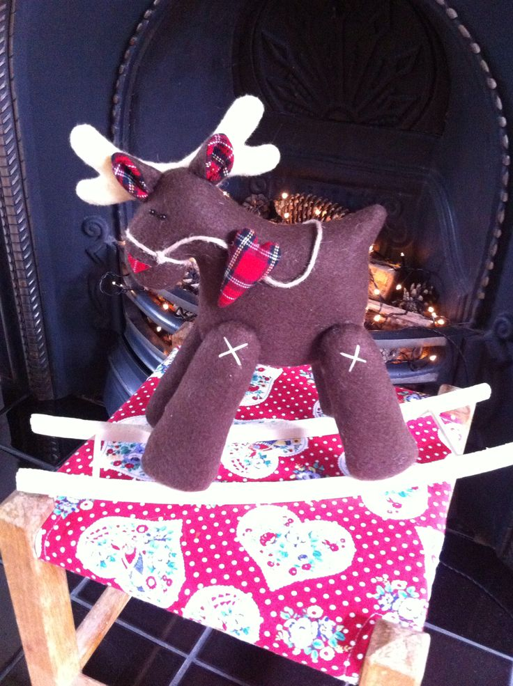 My latest rocking reindeer for Christmas 2014.