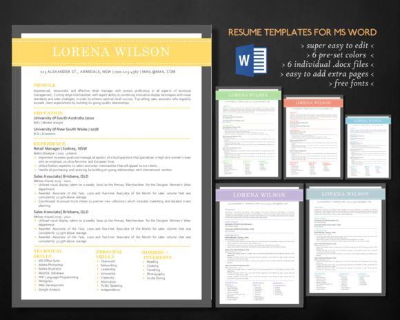 Modern 3 in 1 Word resume bundle 1 - mis resume