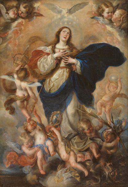Mateo Cerezo (Burgos, 1637 - Madrid, 1666), Immaculate Conception. Oil on canvas, 211.5 x 147.5 cm. Ca. 1660. Madrid, Museo Nacional del Prado.