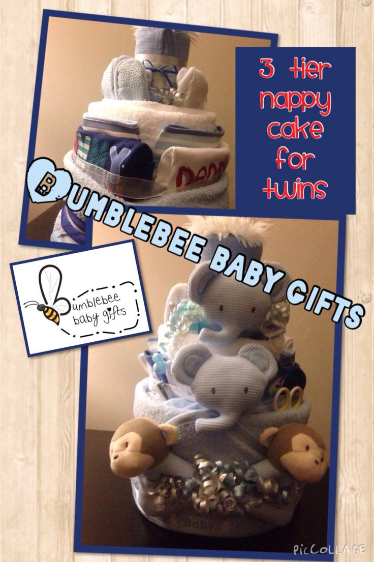 Twin boys nappy cake - one of my favourites