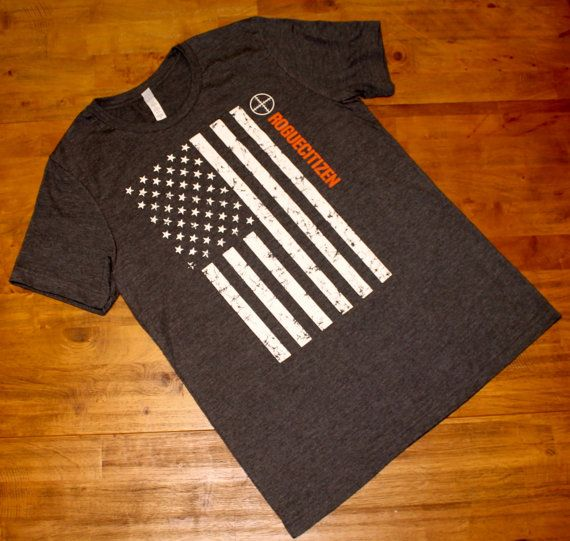 American Flag Rogue Citizen Mens T-shirt by RogueCitizenApparel