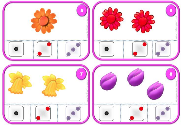 cartes à compter 3 4 5