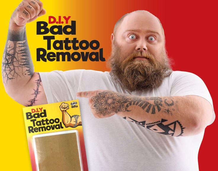 DIY Bad Tattoo Removal. Secret Santa gift from HahaGifts! https://www.haha-gifts.com #badsanta #secretsanta