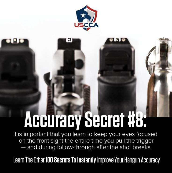 Do you own firearms? How would you like to improve your overall gun handling ability? Master these principles of handgun accuracy in just a few minutes with this easy to follow recipe for better Handgun Accuracy from the USCCA. At the USCCA we share your values and as responsibly armed Americans, we train to protect and prevent tragedy to our communities and those we love.