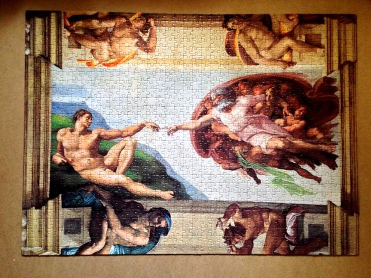 The Creation of Man Michelangelo Clementoni puzzle Museumcollection 1000 pieces