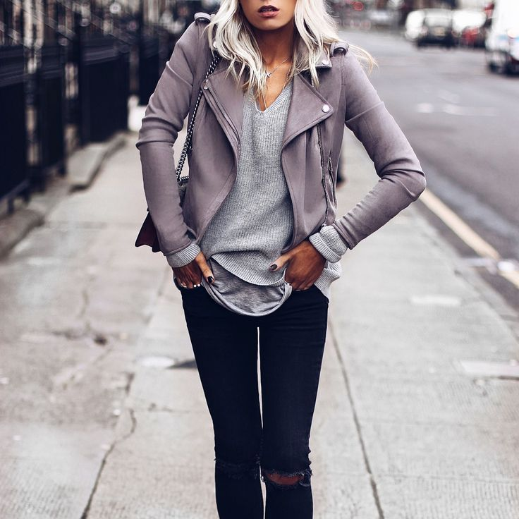 River Island faux suede jacket - http://www.riverisland.com/women/coats--jackets/jackets/light-grey-faux-suede-scuba-biker-jacket-695479