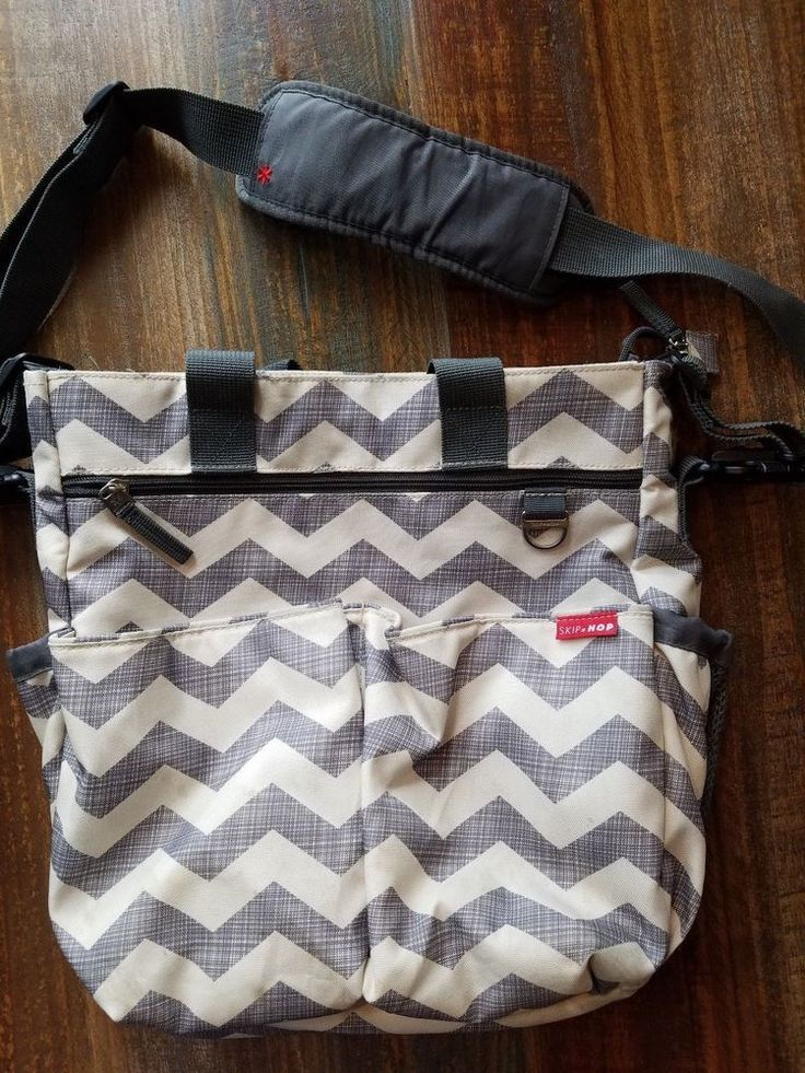 Skip Hop Gray Chevron Diaper Bag #SkipHop
