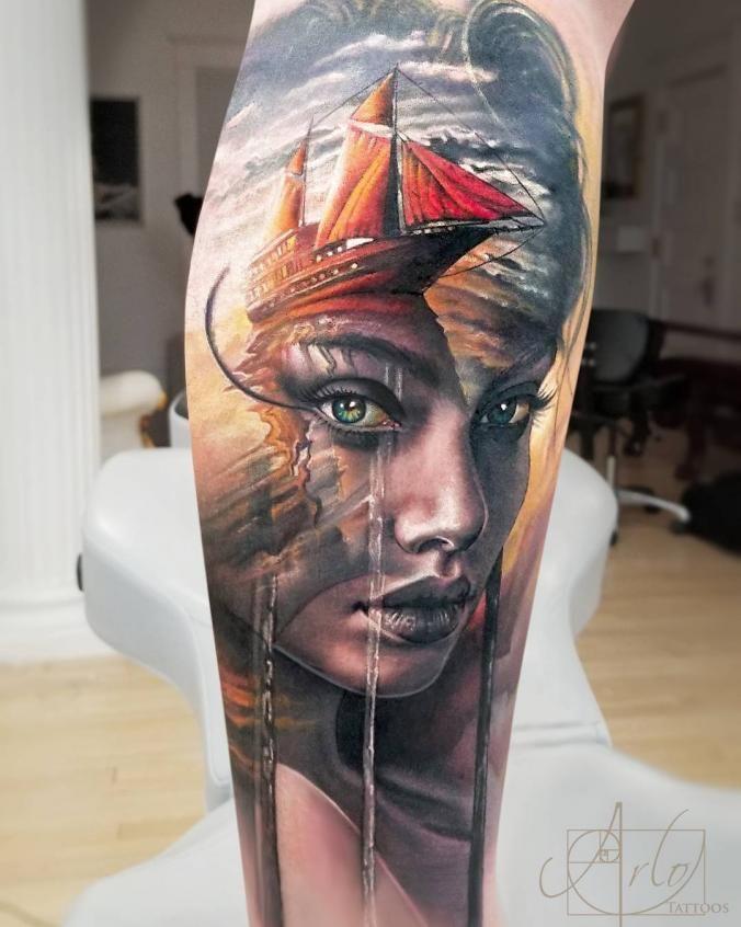 3d Portrait Tattoo Tattoo Artists Trendy Tattoos Tattoos For Guys