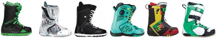 Snowboarding boots, snowboarding equipment.