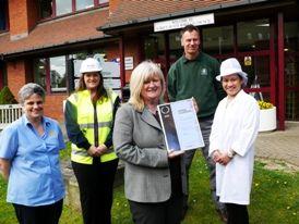 Surrey Heath Borough Council celebrating IIP Silver award