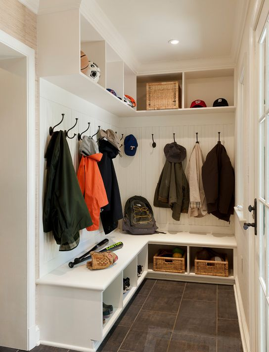 More casual mudroom.