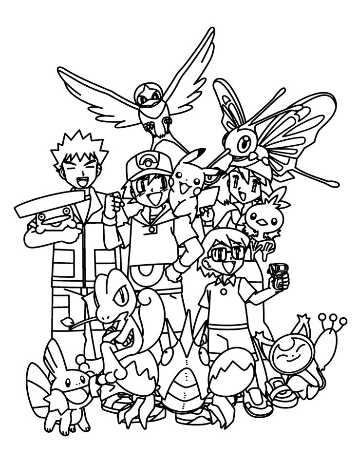 54 best images about Color Pokemon Trainers Humans ...
