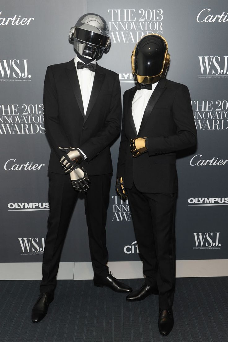 Daft Punk--MY NEW FAVORITE GROUP! CONGRATS ON THE GRAMMIES! I'M SURE UR MUMS R PROUD OF U.