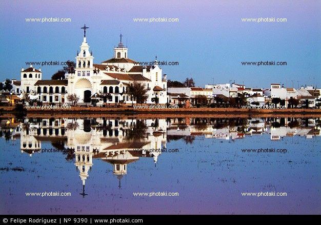 Sanctuary of El Rocío, Almonte. Huelva province.