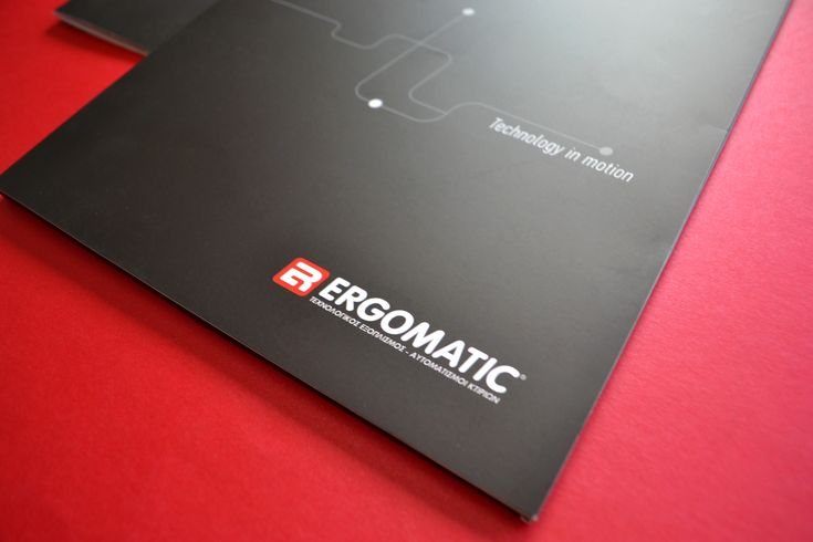 ERGOMATIC - Technological Equipment Building Automations - Corporate Identity and Communication Material Creation