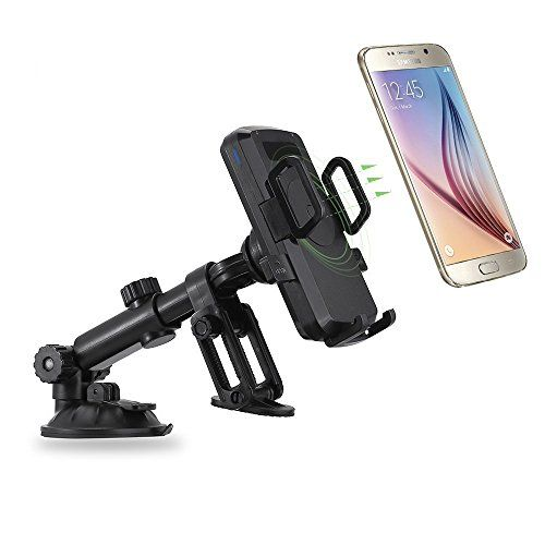 Antye Qi Wireless Car Charger Charging Dock Dashboard Mount Cup Holder for Samsung Galaxy S7S7 EdgeS6S6 EdgeNote 5Nexus 5 and other QiEnabled Smart Phones >>> To view further for this item, visit the image link.
