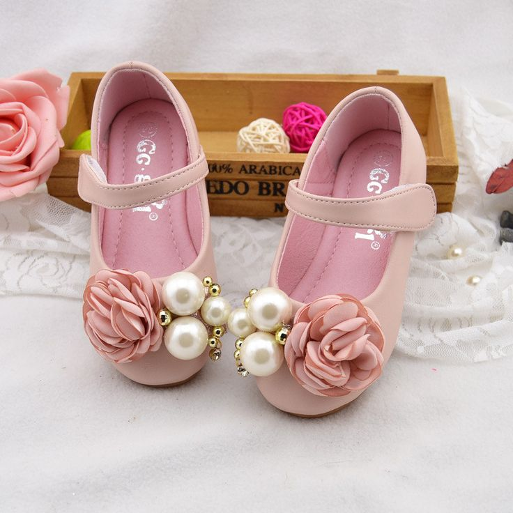 Vivian Pearl & Flower Embellished Girls Shoes