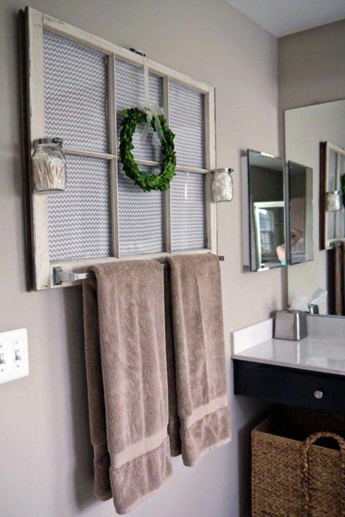 wohnideen zum selber machen badezimmer wandregal fensterrahmen